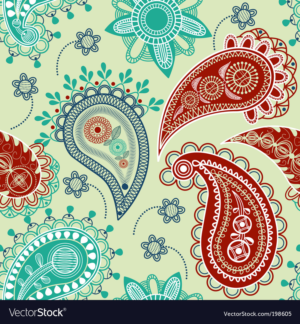 Paisley seamless pattern vector   Price: 1 Credit (USD $1)
