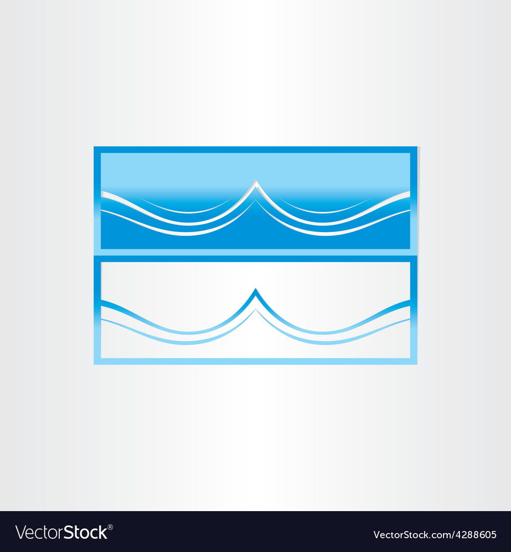 Sea wave abstract icon design vector | Price: 1 Credit (USD $1)