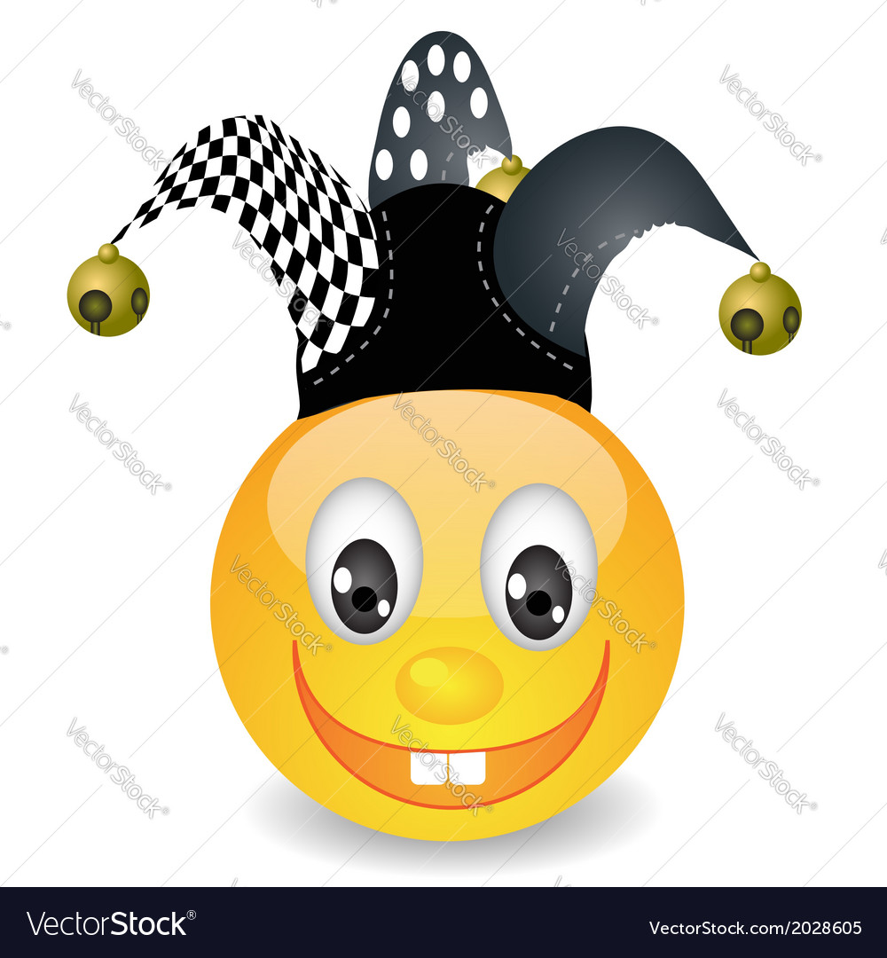 Smile in jester hat vector | Price: 1 Credit (USD $1)