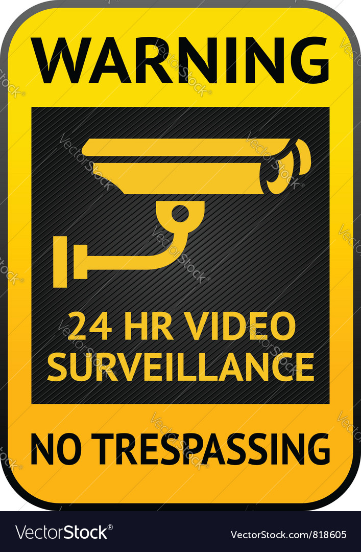 Video surveillance label vector | Price: 1 Credit (USD $1)