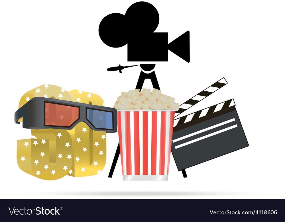 Cinema theme vector   Price: 1 Credit (USD $1)