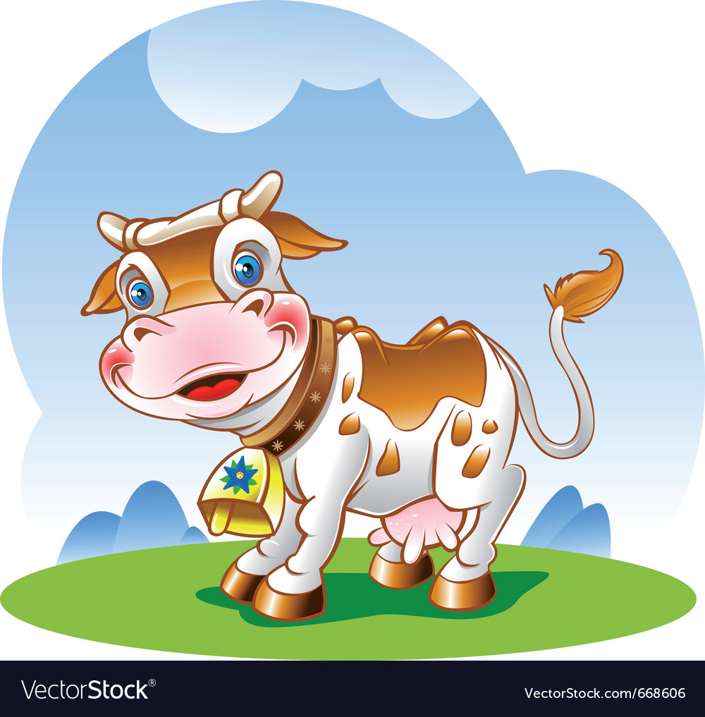 Dairy cow vector | Price: 3 Credit (USD $3)