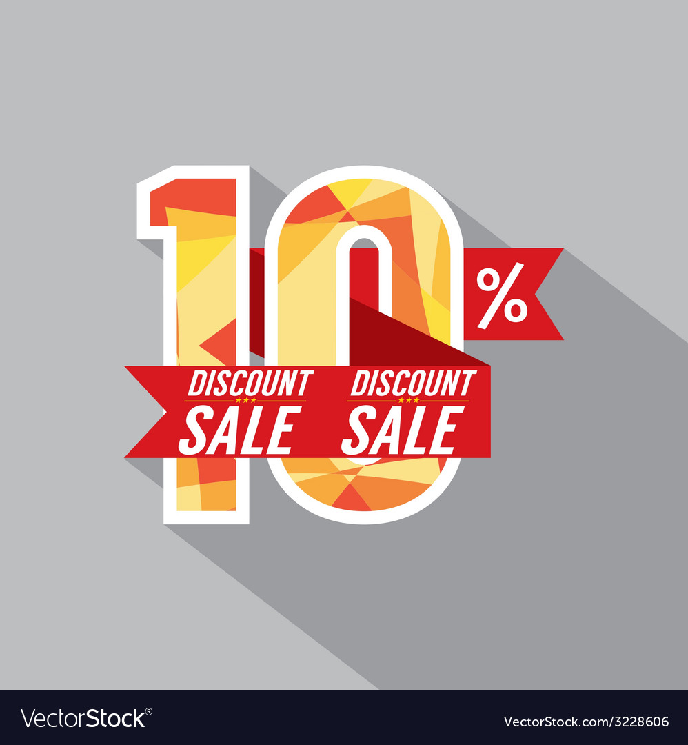 Discount 10 percent off vector | Price: 1 Credit (USD $1)