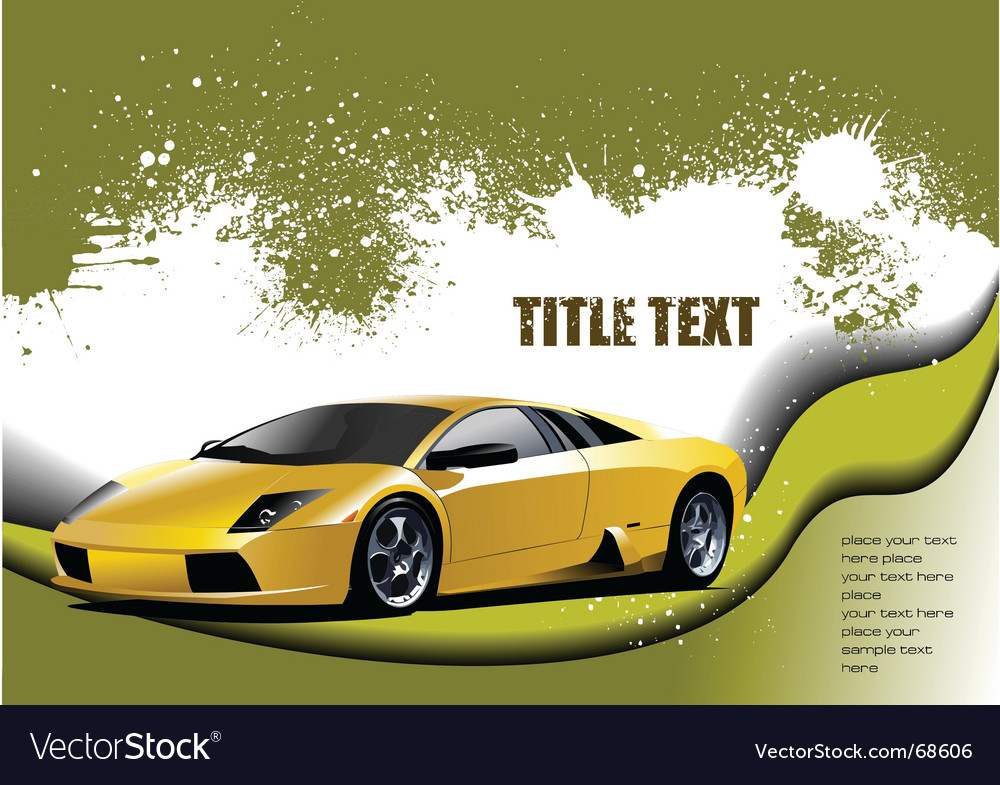 Fast cars vector | Price: 1 Credit (USD $1)