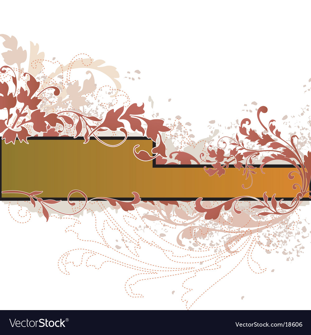 Floral banner design vector | Price: 1 Credit (USD $1)