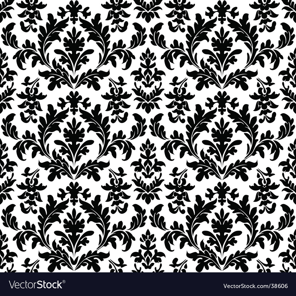 Floral wallpaper seamless vector | Price: 1 Credit (USD $1)