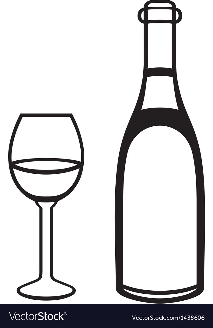 Glass and bottle vector | Price: 1 Credit (USD $1)