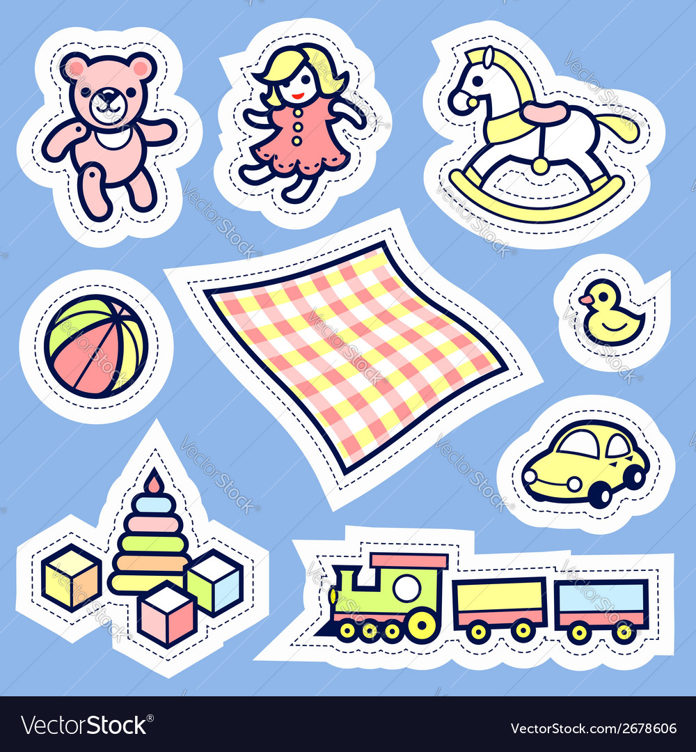 Kid label vector | Price: 1 Credit (USD $1)