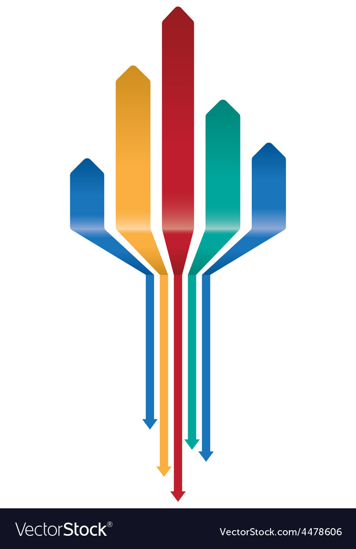 Multicoloured arrow background vector | Price: 1 Credit (USD $1)
