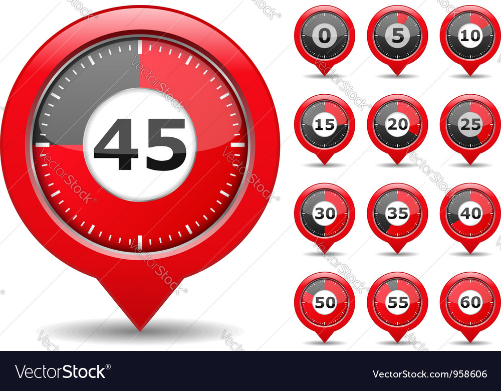 Red timers vector | Price: 1 Credit (USD $1)
