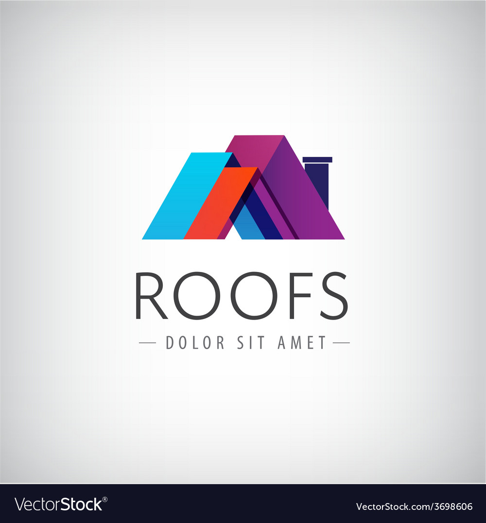 Roofs house icon logo isolated vector | Price: 1 Credit (USD $1)