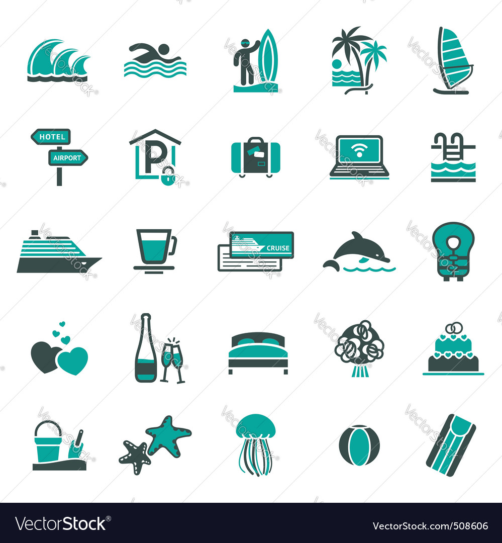 Signs vacation travel recreation third vector | Price: 1 Credit (USD $1)