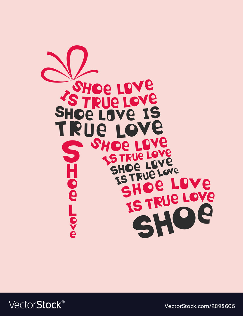 Woman shoe from words vector | Price: 1 Credit (USD $1)