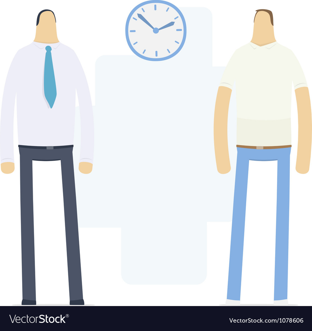 Work and home time vector | Price: 3 Credit (USD $3)