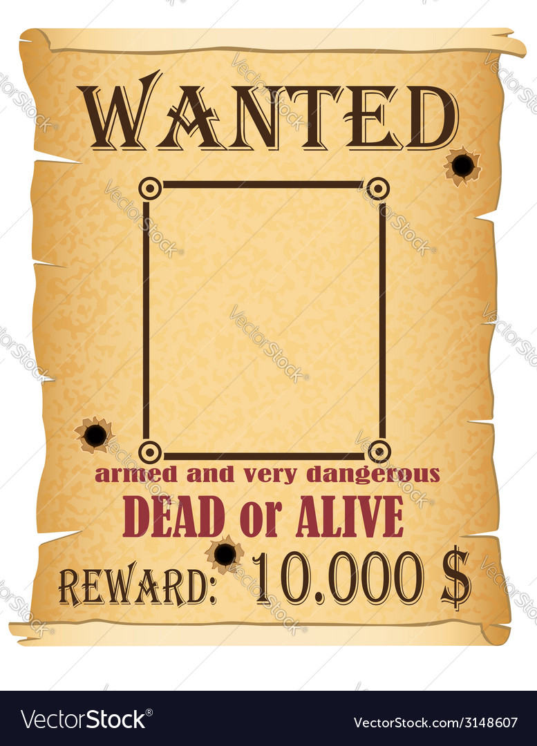 Announcement wanted criminal vector | Price: 1 Credit (USD $1)