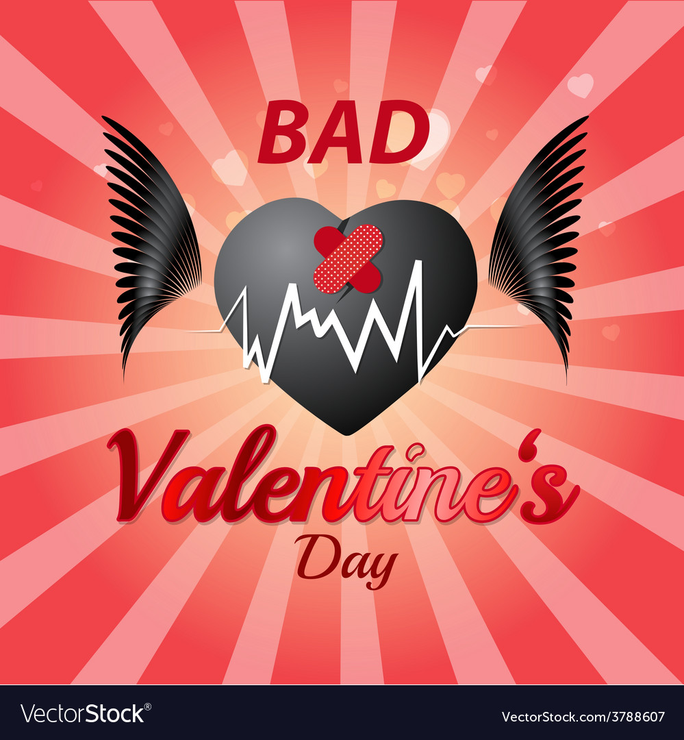 Bad valentines day vector | Price: 1 Credit (USD $1)
