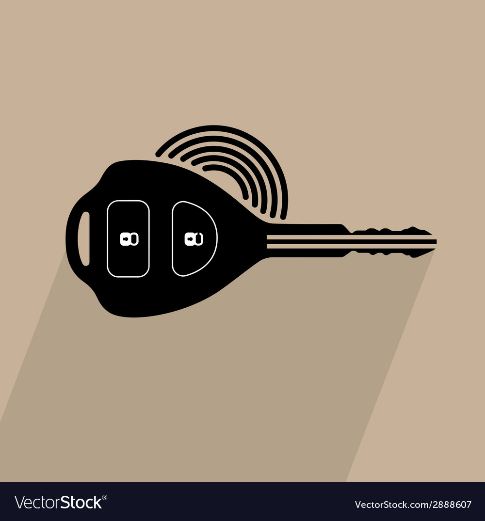 Car remote key symbol vector | Price: 1 Credit (USD $1)