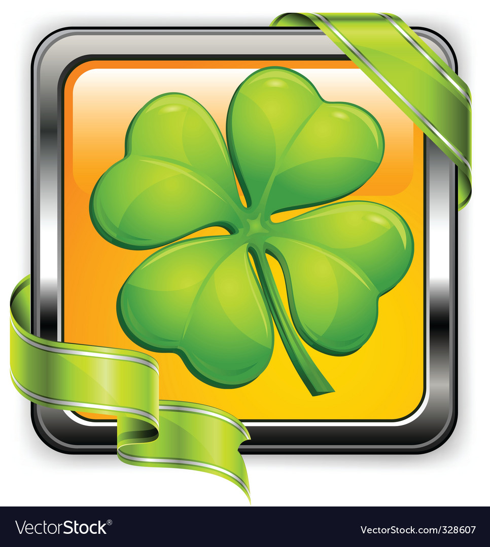 Clover button vector | Price: 1 Credit (USD $1)