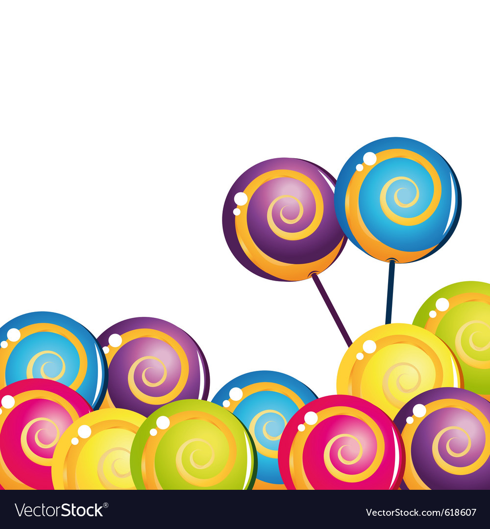 Colorful delicious lollipop collection vector   Price: 1 Credit (USD $1)
