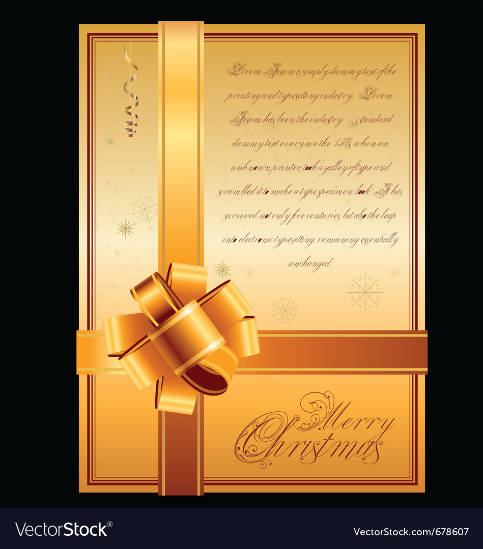 Elegant christmas - card vector | Price: 1 Credit (USD $1)