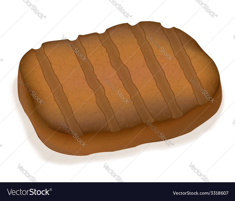 Fried steak 01 vector | Price: 1 Credit (USD $1)