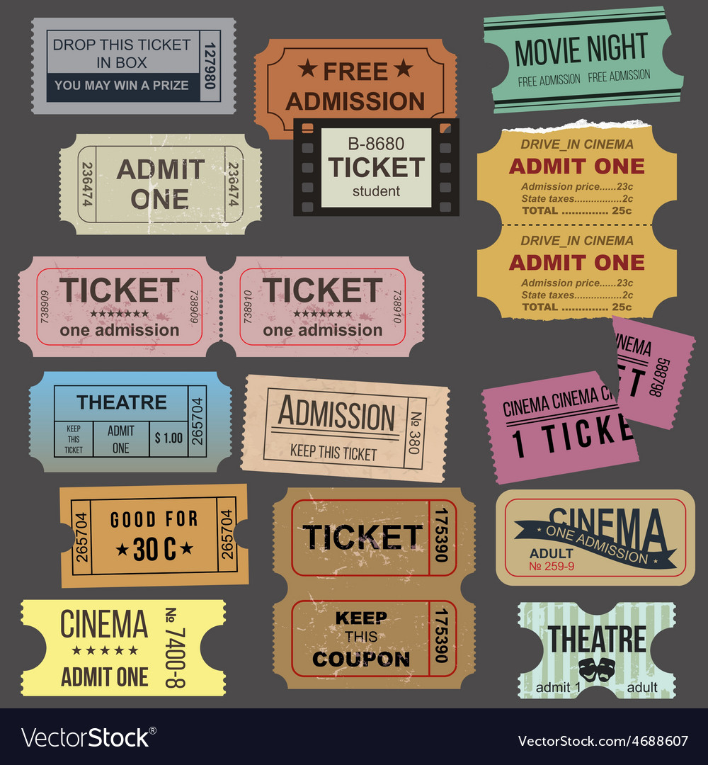Great tickets collection vector | Price: 1 Credit (USD $1)
