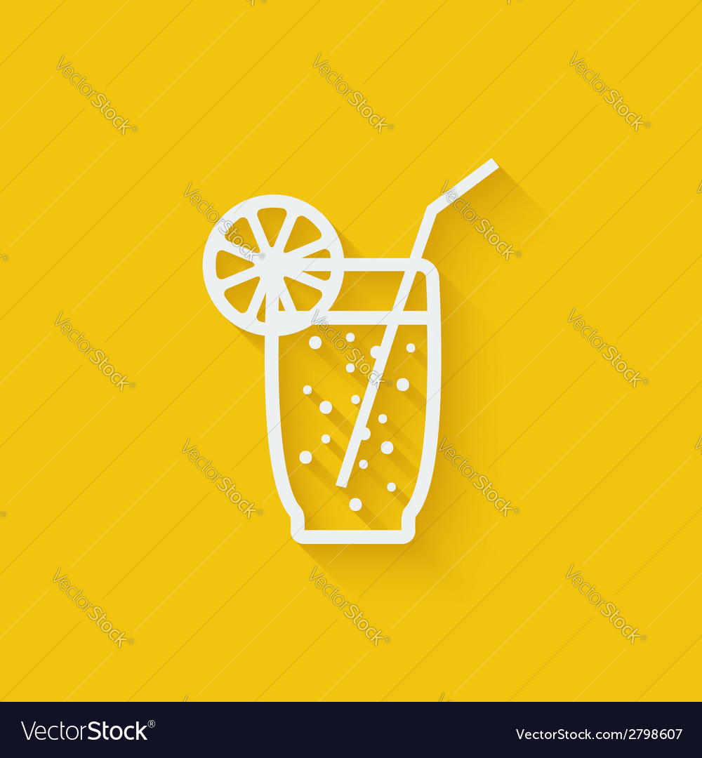 Lemonade with straw vector | Price: 1 Credit (USD $1)