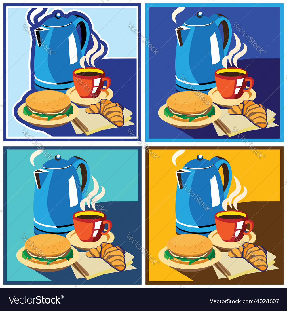 Lunch time set vector | Price: 1 Credit (USD $1)