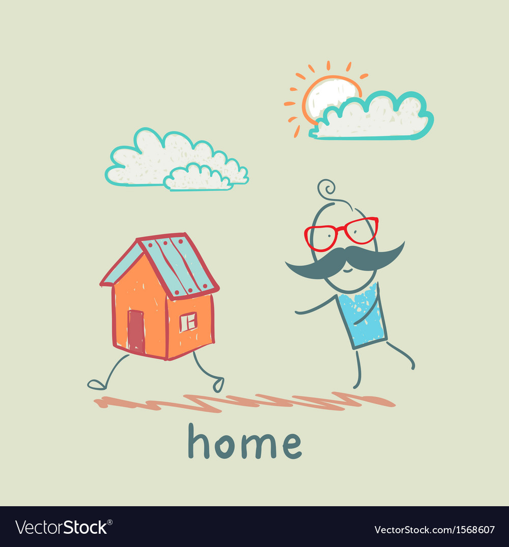 People catching home vector | Price: 1 Credit (USD $1)