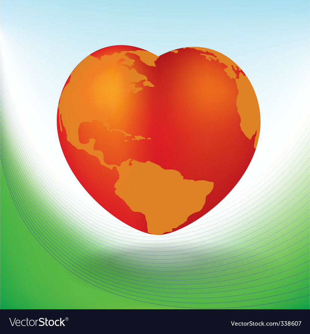 World heart vector | Price: 1 Credit (USD $1)