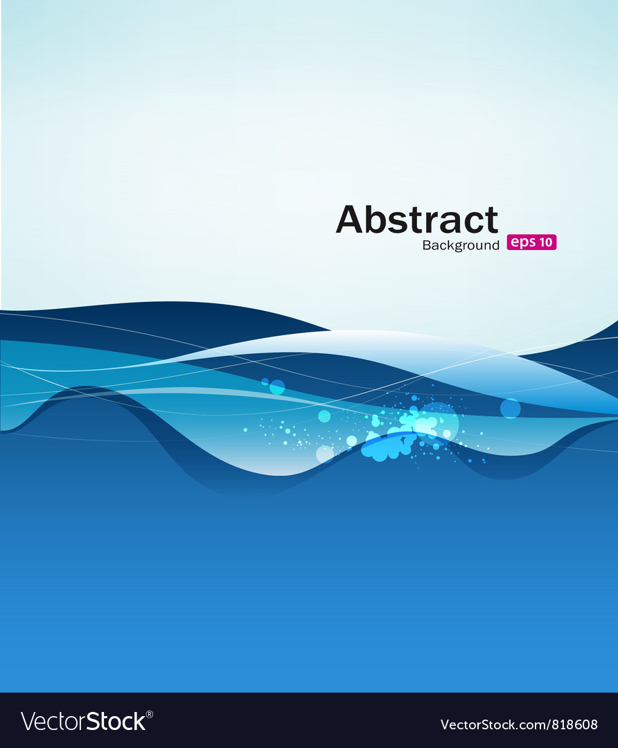 Abstract blue water background vector | Price: 1 Credit (USD $1)