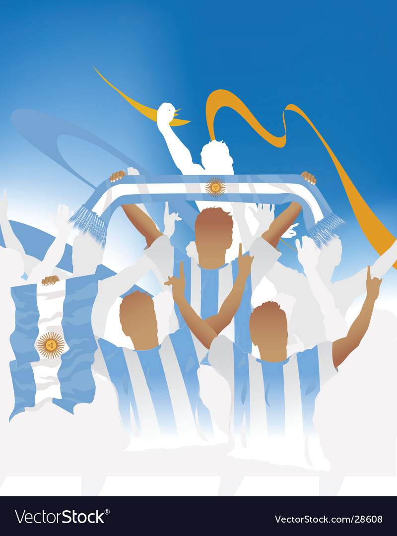 Argentina crowd vector | Price: 1 Credit (USD $1)