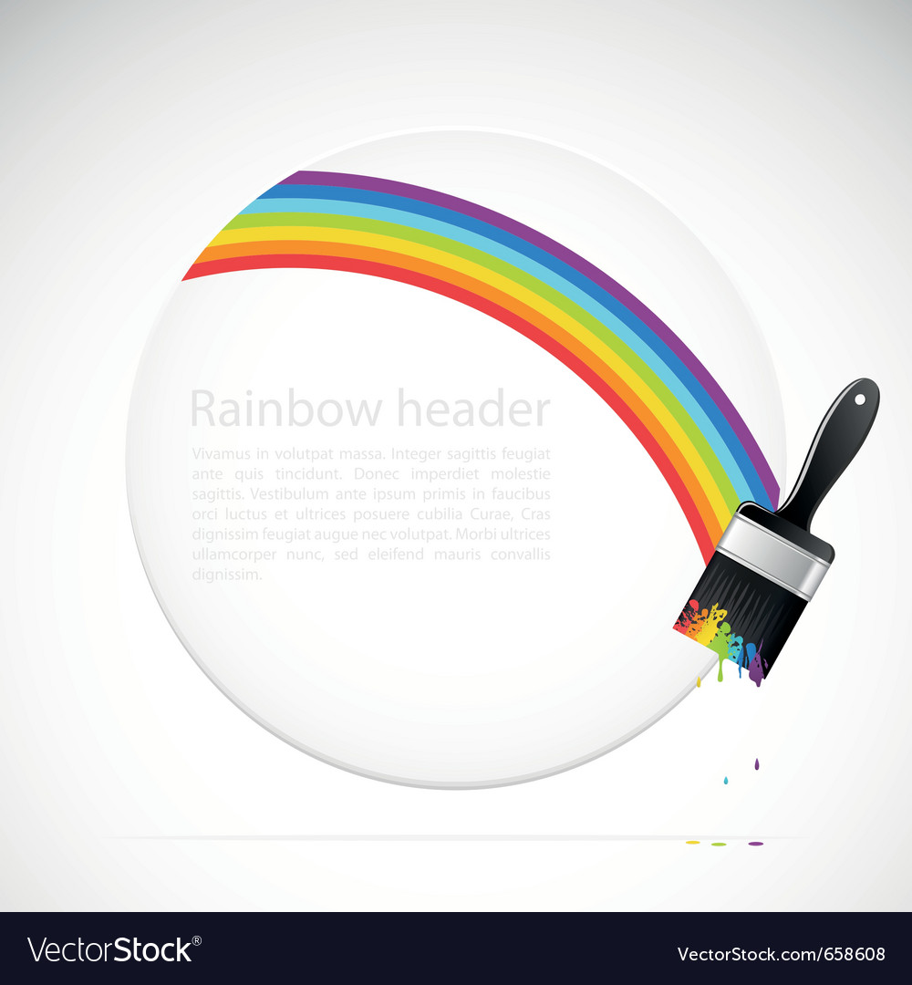 Banner with rainbow brush vector | Price: 1 Credit (USD $1)