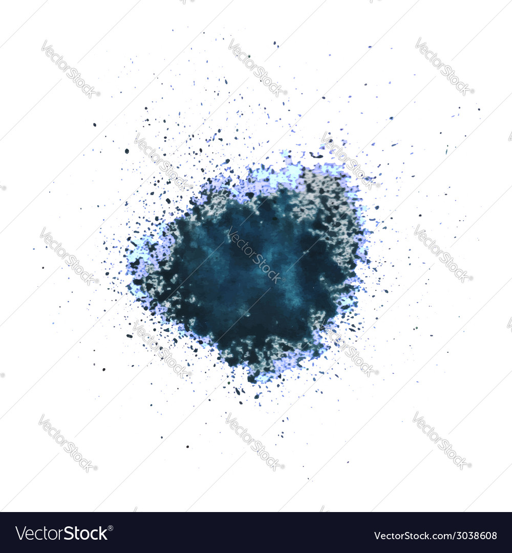 Blue blot vector | Price: 1 Credit (USD $1)