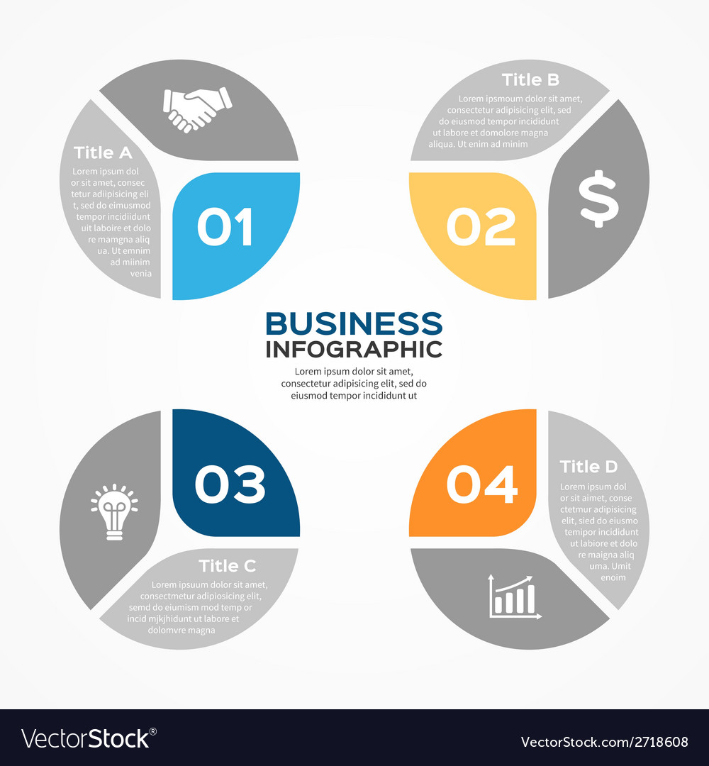 Circle diagram infographic for business vector | Price: 1 Credit (USD $1)