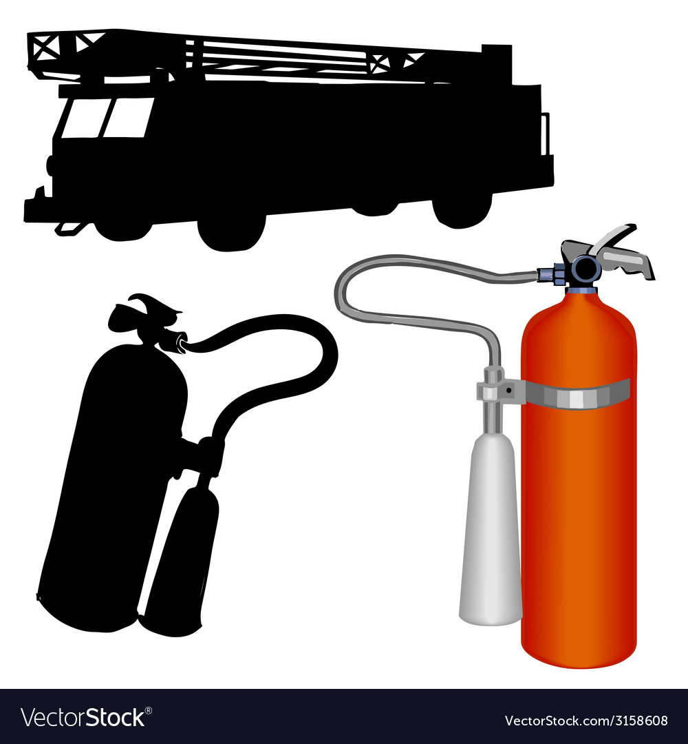 Fire truck-extinguisher vector | Price: 1 Credit (USD $1)