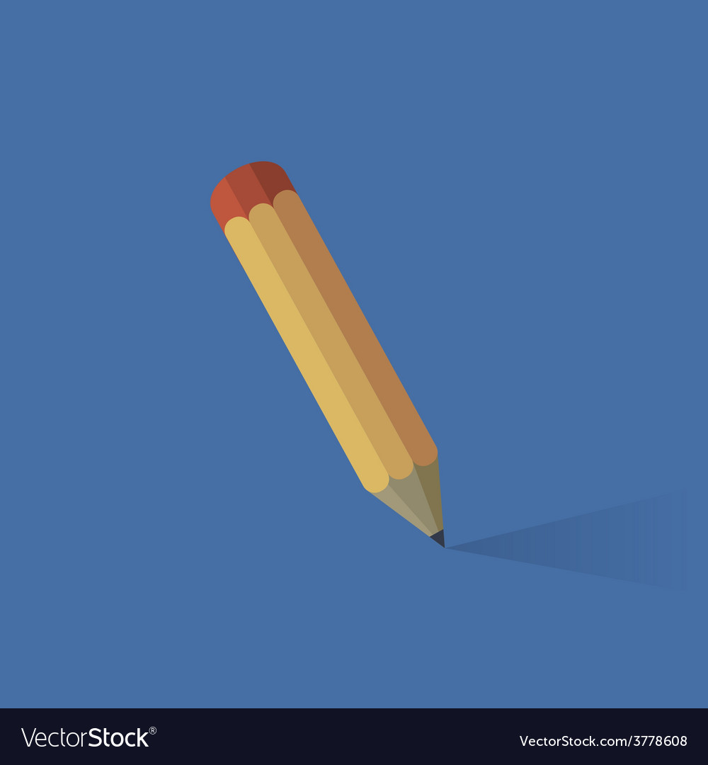 Flat pencil icon vector | Price: 1 Credit (USD $1)
