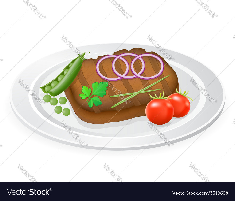 Fried steak 03 vector | Price: 1 Credit (USD $1)
