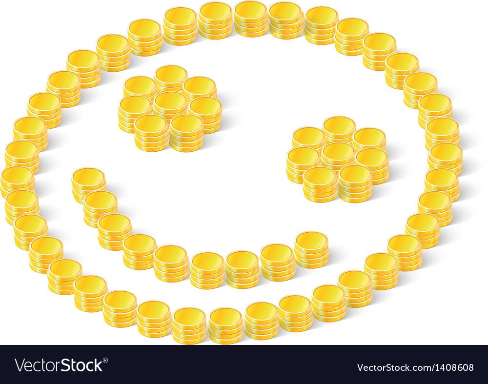 Happy coins vector | Price: 1 Credit (USD $1)