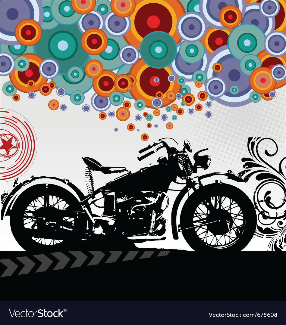 Retro motorcycle background vector | Price: 1 Credit (USD $1)
