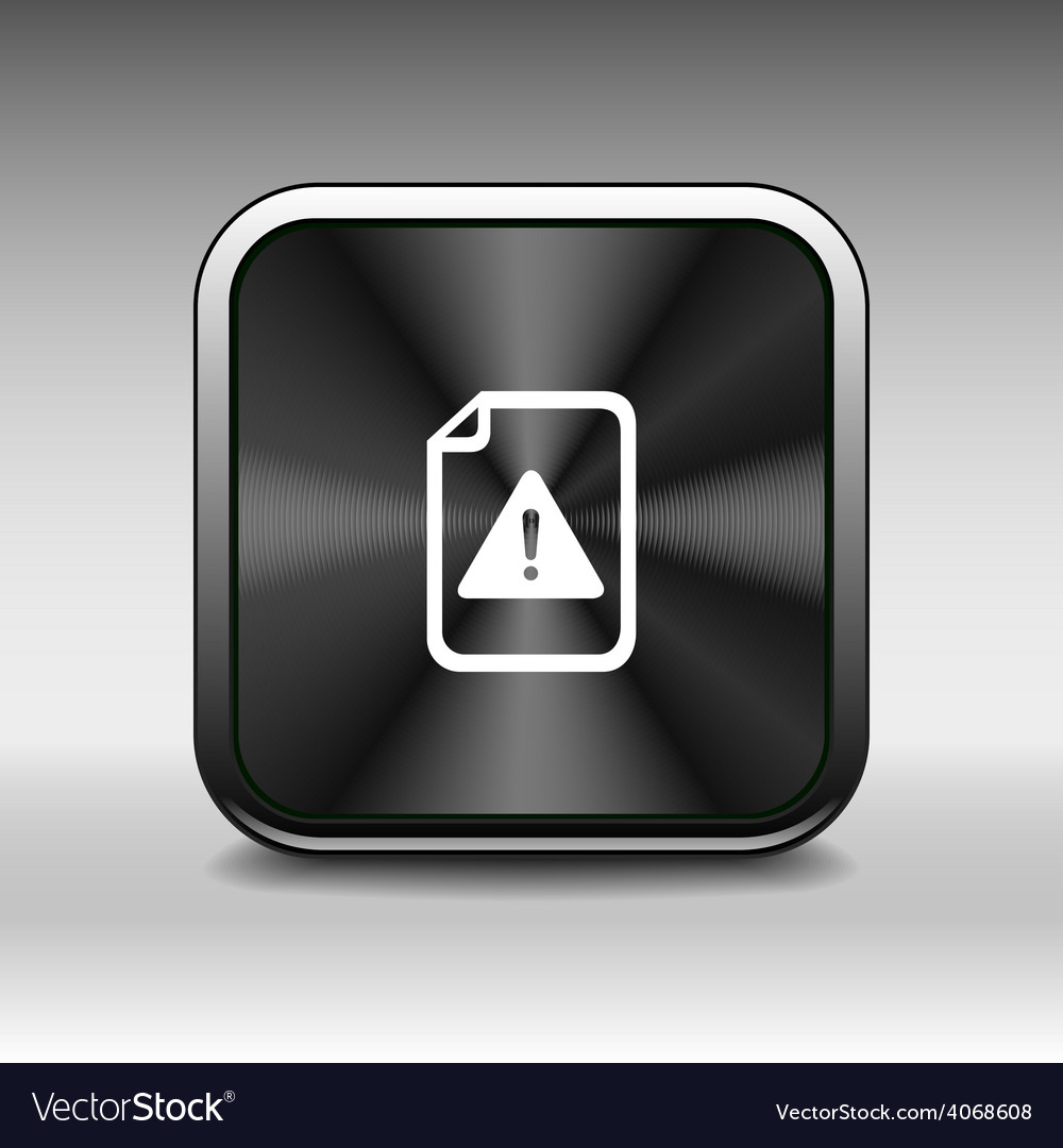 Security warning in browser icon alert application vector | Price: 1 Credit (USD $1)