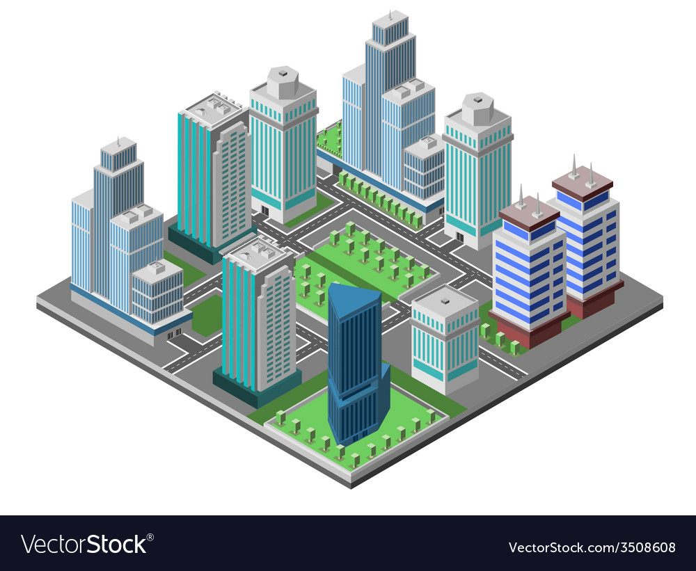 Skyscraper city concept vector | Price: 1 Credit (USD $1)