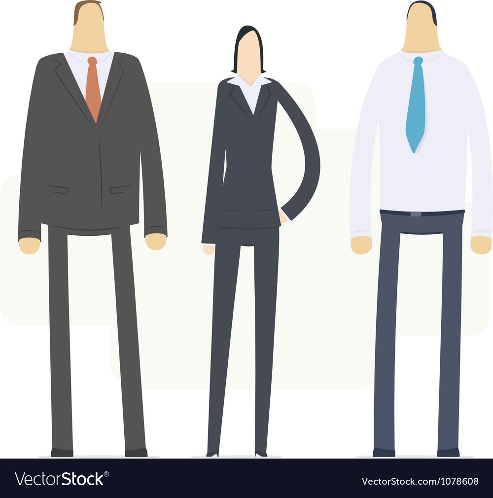 Team of young business people vector | Price: 3 Credit (USD $3)