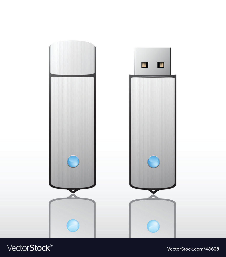 Usb flash drive vector | Price: 1 Credit (USD $1)