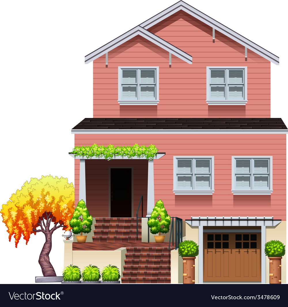 A big residential house vector | Price: 3 Credit (USD $3)