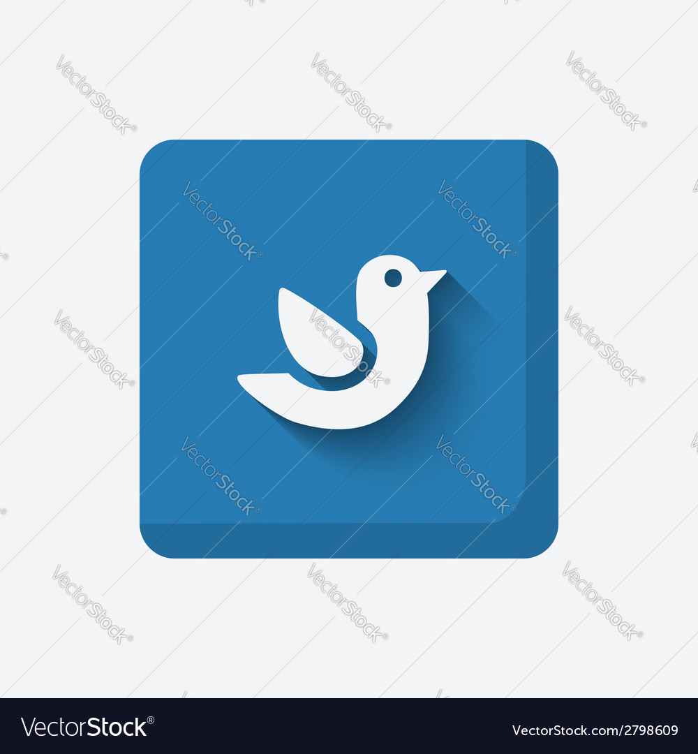Blue bird symbol vector | Price: 1 Credit (USD $1)