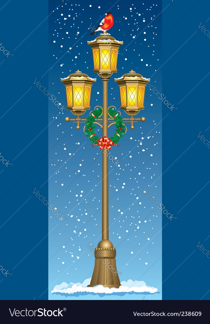 Christmas street lantern vector | Price: 1 Credit (USD $1)