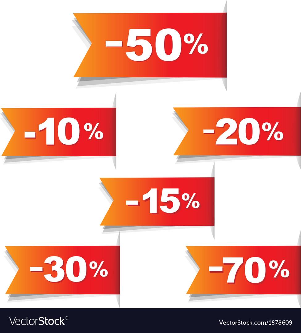 Color discount labels vector | Price: 1 Credit (USD $1)