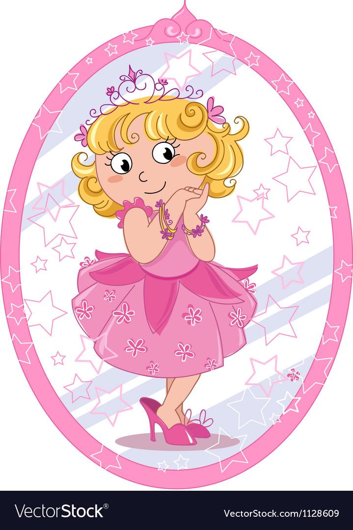 Cute princess vector | Price: 1 Credit (USD $1)