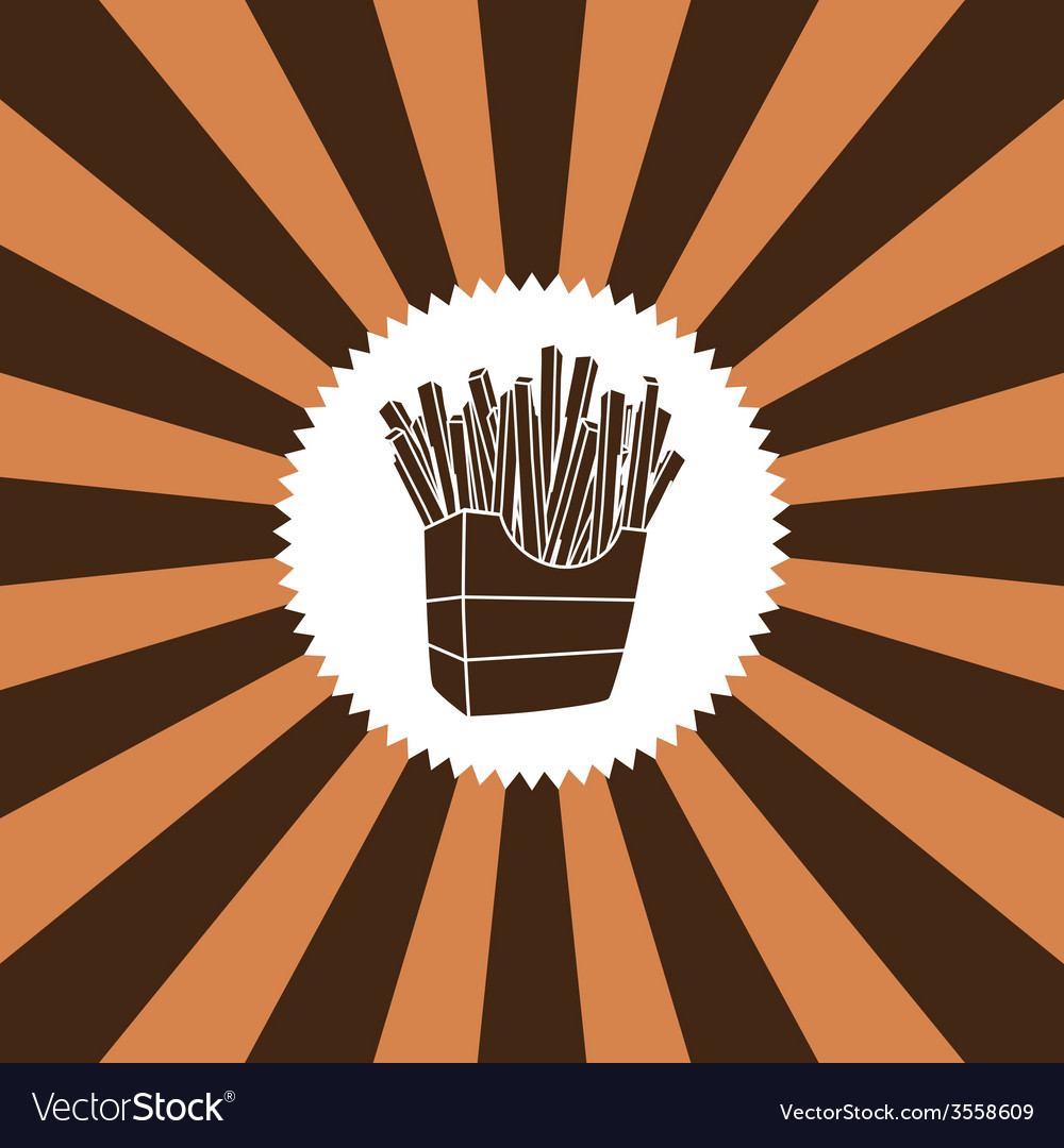 Food and drink theme french fries vector | Price: 1 Credit (USD $1)